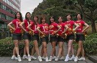 Cheerleading Show on 氷川丸